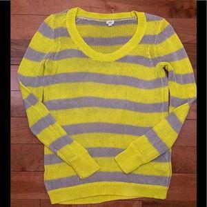 J. Crew striped knit sweater